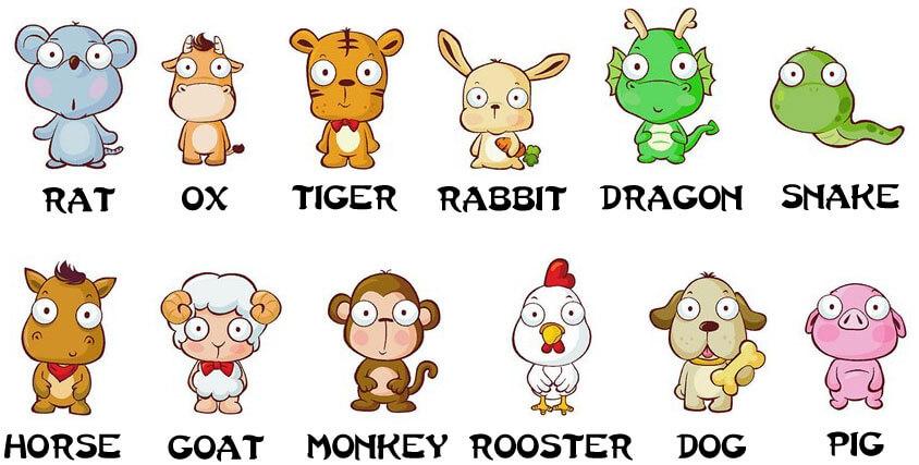 12 зверей китайского гороскопа